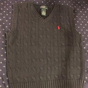 Ralph Lauren Polo Cable Knit Sweater Vest Boys 5
